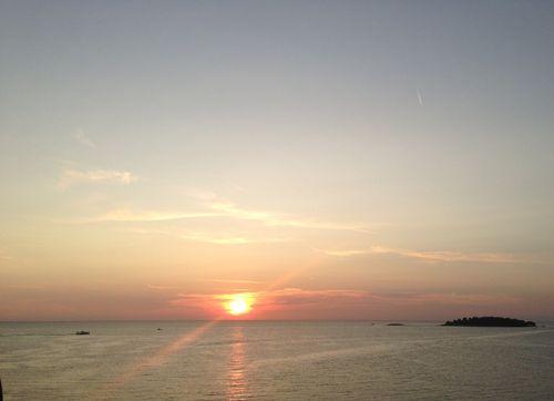 Coucher du soleil à Rovinj