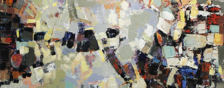 Cristallisation, 2009.Rémi Filion.Peinture sur toile.91,5 x 76,5 cm.© L'Artothèque