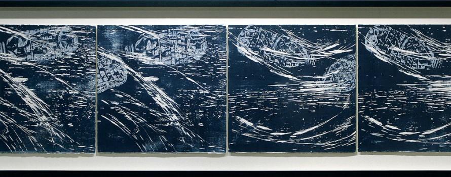 Crédit visuel : Embâcles, 2011. Élisabeth Dupond © L'Artothèque