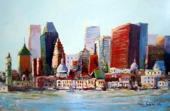 Crédit du visuel : Montréal, Vue panoramique, 2006. M'Hamed Saci © L'Artothèque