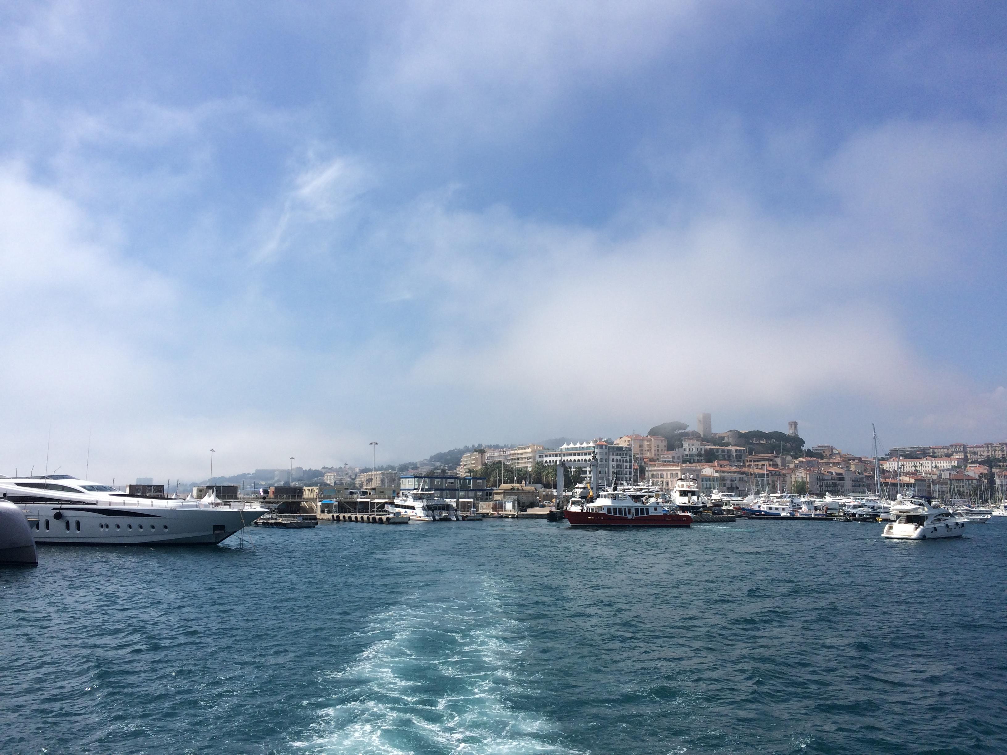 En route de Cannes vers l'île. Photo : Marie-Julie Gagnon