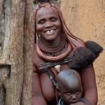 Femme Himba et son bébé - Namibie, octobre 2015