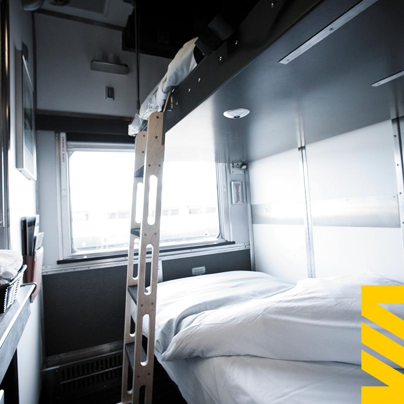Voiture-lits Plus à bord du Canadien ou de l'Océan. @Facebook VIA Rail