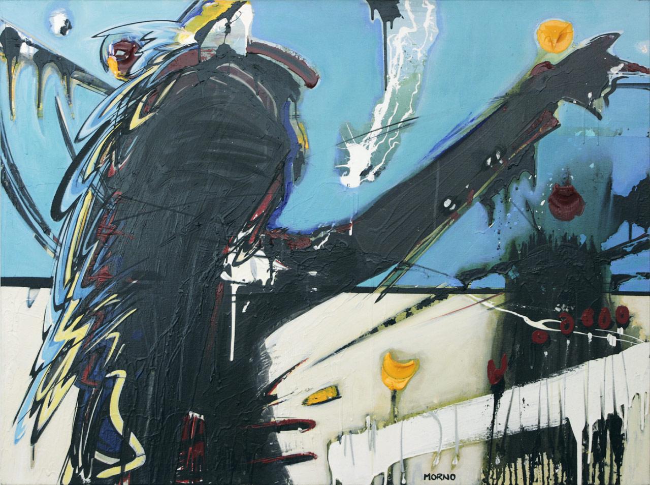 Go !, 2008. Caroline Morneau. Peinture sur toile, 92 cm x 122 cm. © L'Artothèque