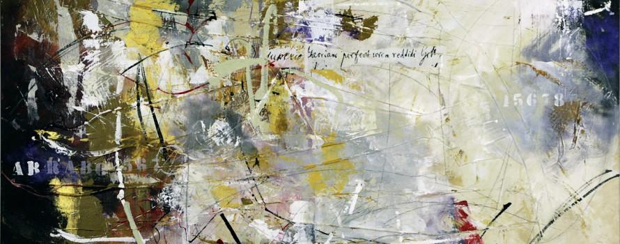 L'âme des oiseaux, 2013. Gérard Dansereau. Peinture sur toile. 60.96 cm x 121.92 cm. © L'Artothèque