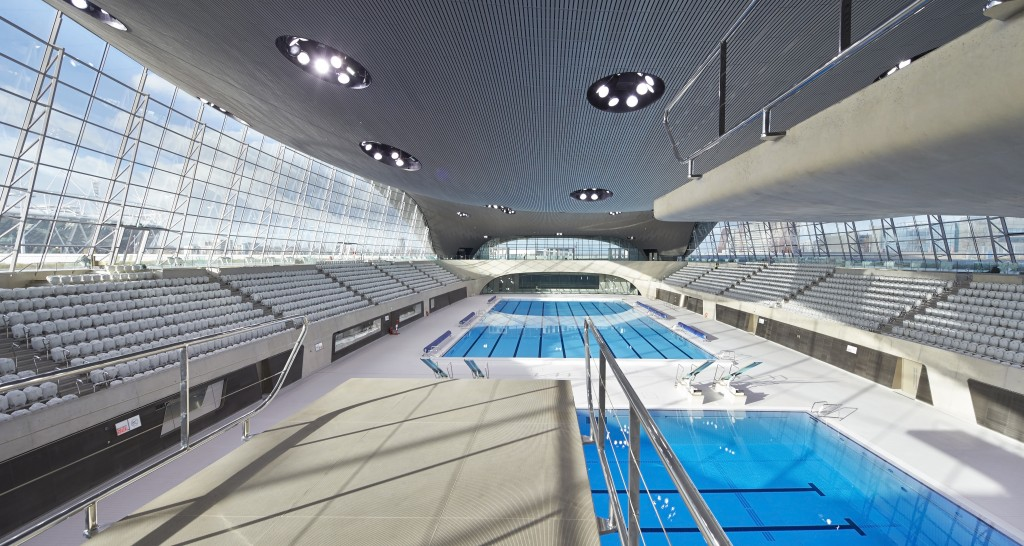 Le centre aquatique de Londres. Photo : Hufton+Crow, gracieuseté de ZHA.