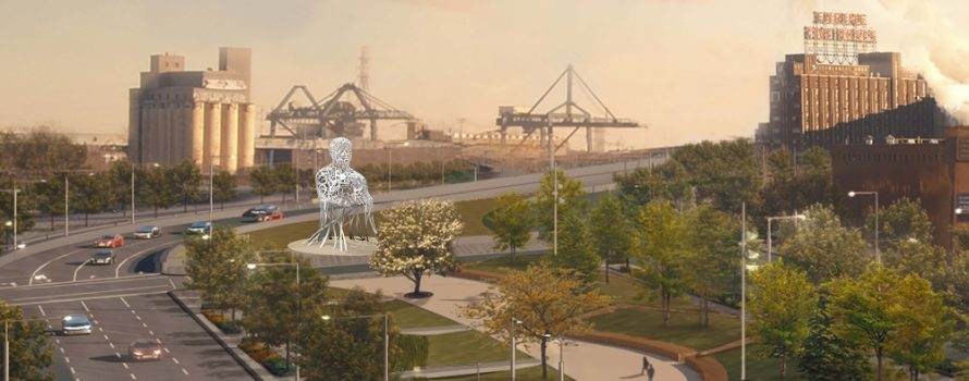 Photo: courtoisie de Jaume Plensa et de la Galerie Lelong.