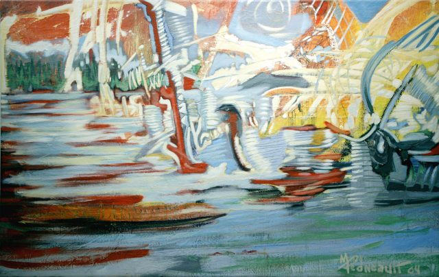 Kermeste, 2004. Michel Pedneault. Acrylique sur toile. 101.7 x 162.7 cm. © L'Artothèque