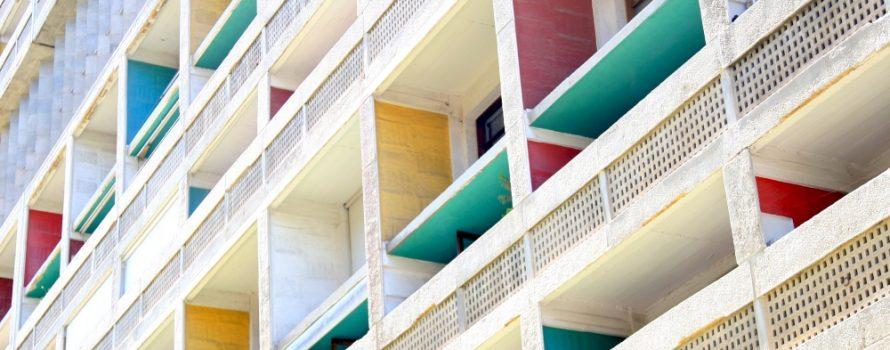Cité radieuse Le Corbusier. Photo: Vincent Desjardins, Flickr