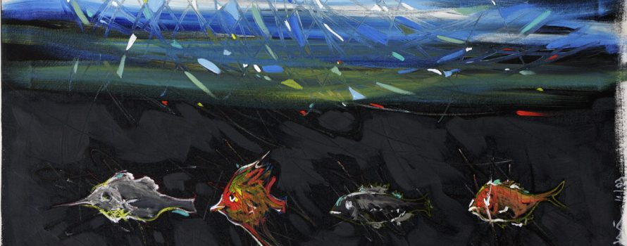 Sous. Robert Deschênes. Acrylique sur toile. 24 x 36 cm. © L'Artothèque