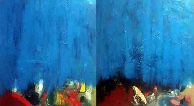 Rue tous tranquilles, 2003. Jean-Guy Laplante. Huile sur toile. 152 cm x 202.6 cm. © L'Artothèque