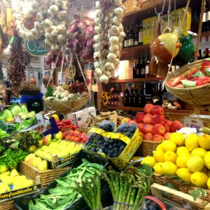 Un marché à Florence. Photo: Véronique Leduc.