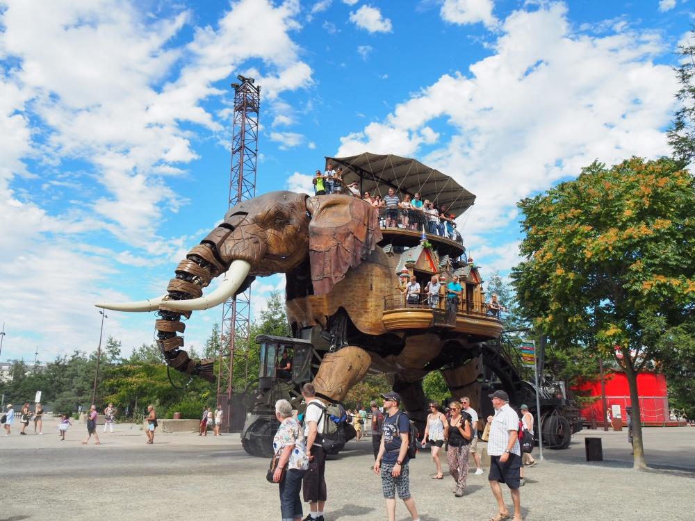 L'éléphant mécanique. Photo: Marie-Julie Gagnon.
