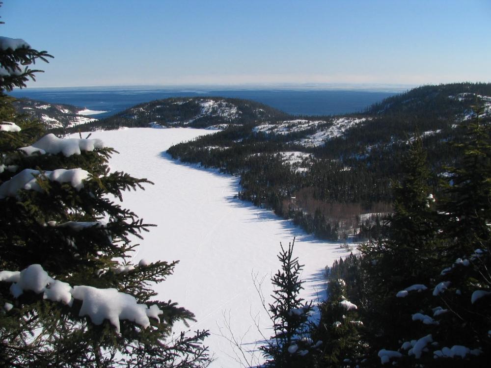 La Côte-Nord en hiver. Photo: Facebook Tourisme Côte-Nord.