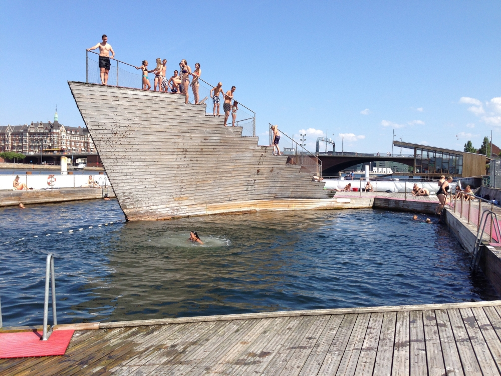 Copenhaguen Harbour Baths. Photo: Heather Cowper, Flickr.