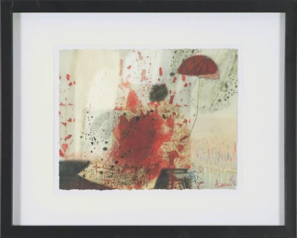 Rain, 2014. Anait Abramian. Estampe 17 x 22 cm. © L'Artothèque