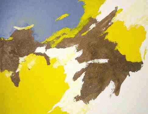 Adagio, 1998. Guénaël Revel. Techniques mixtes sur toile. 120 x 180 cm. © L'Artothèque
