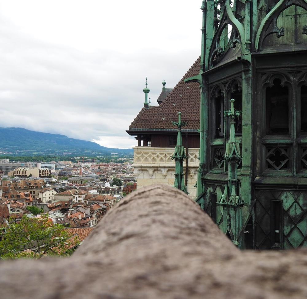 Genève depuis la Cathédrale Saint-Pierre. Photo: Marie-Julie Gagnon.