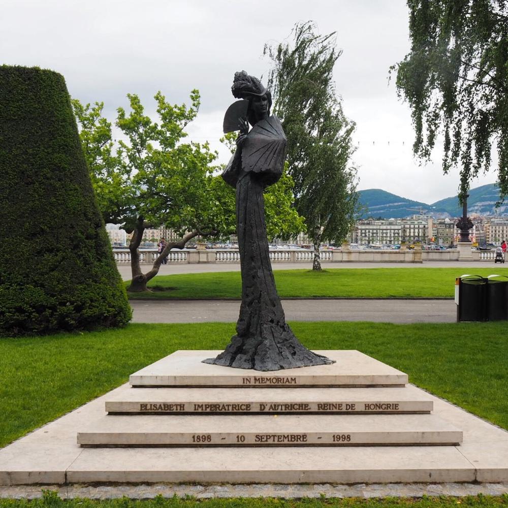 Statue de l'impératrice Sissi. Photo: Marie-Julie Gagnon.
