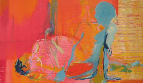 Sans titre, Isabelle Champagne. Huile sur toile. 121,7 cm x 121,8 cm. © L'Artothèque