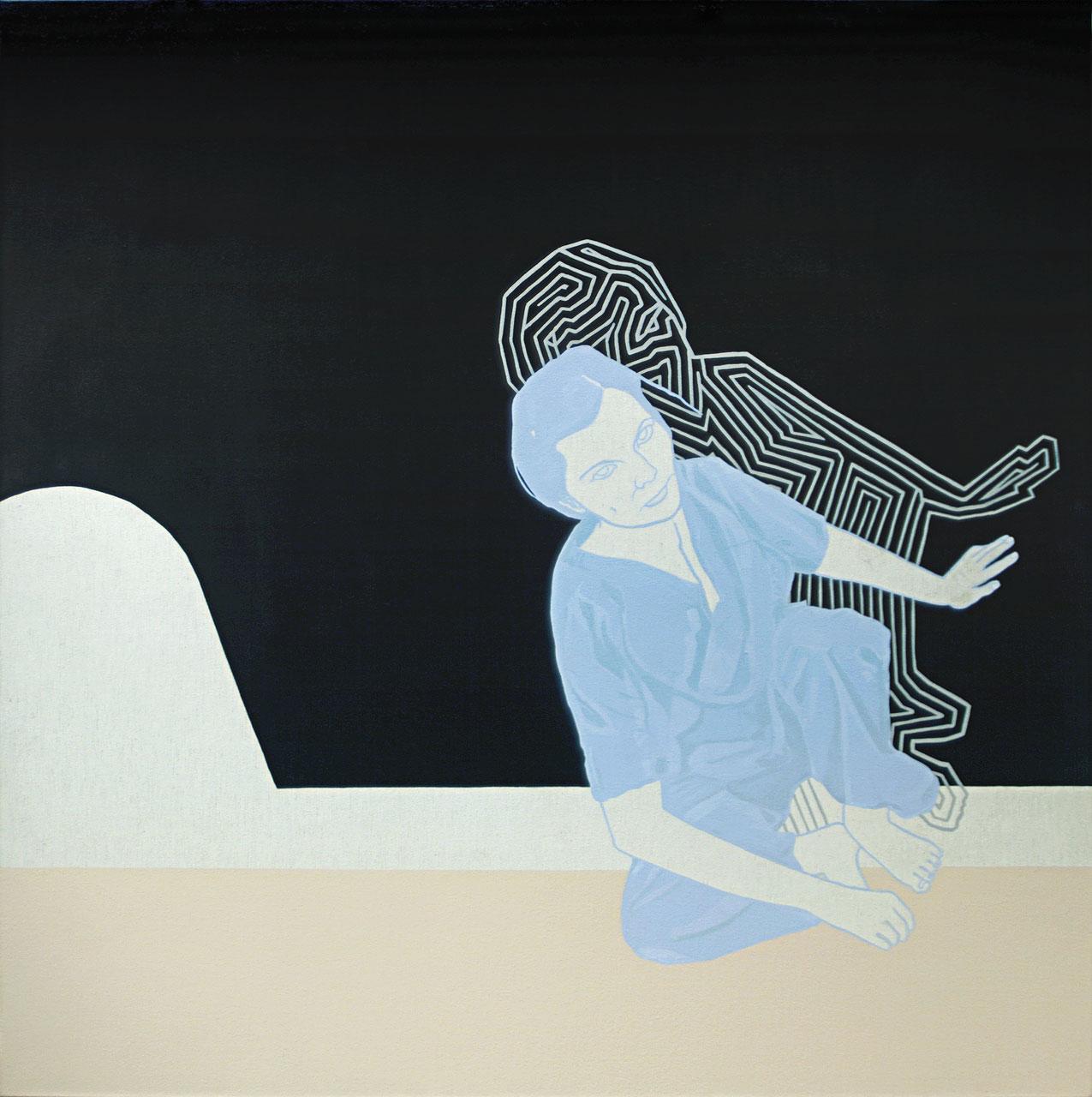 Hôpital, 2013. Cat Plourde. Acrylique sur toile. 144 x 144 cm. © L'Artothèque