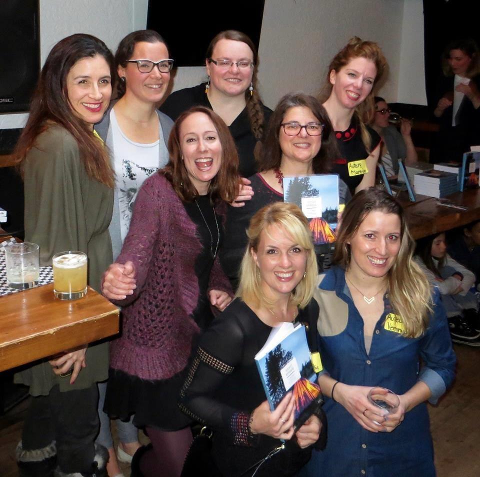 Les auteures lors du lancement au Pourvoyeur, à Montréal. Photo: Gordon Mcfie
