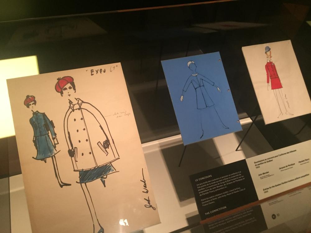Croquis des projets d'uniformes soumis au concours. Photo: Claude Deschênes