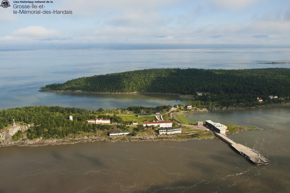 Secteur ouest de l'île. Photo: Facebook Lieu historique national de la Grosse-Île et le Mémorial des Irlandais