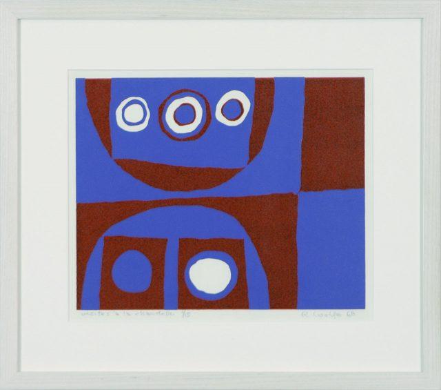 Visites à la chandelle, 1968, Robert Wolfe (1935-2003). Gravure. 22 x 26 cm. © L'Artothèque