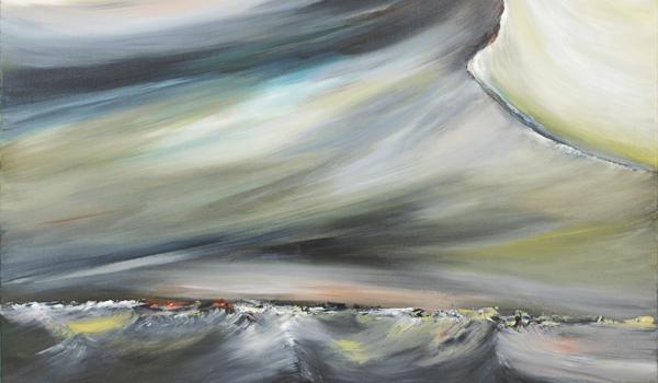 Menace, 2016, Éric De Belleval. Acrylique sur toile. 92 cm x 122 cm. © L'Artothèque