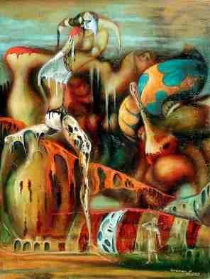 La créativité, Part XXXIX, 1997. Nikolaï Kupriakov. Huile sur toile. 103 cm x 78 cm. © L'Artothèque