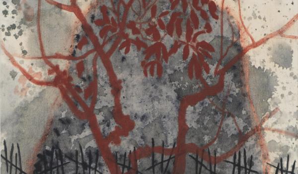 Liberté, 2016, France McNeil. Acrylique sur toile. 60 x 60 cm. © L'Artothèque