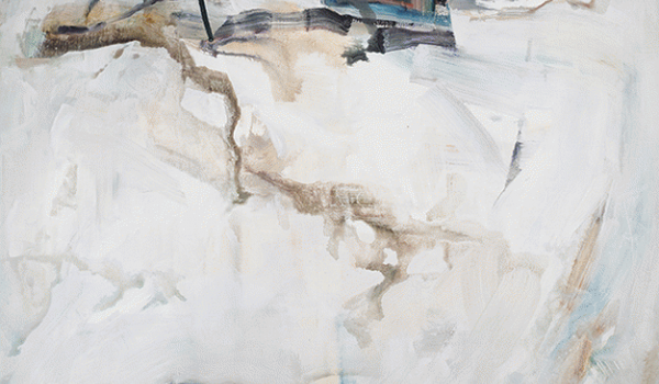 Still Snow, Anne-Laure Djaballah, 2014. Acrylique sur toile. 122 x 183 cm. © L'Artothèque
