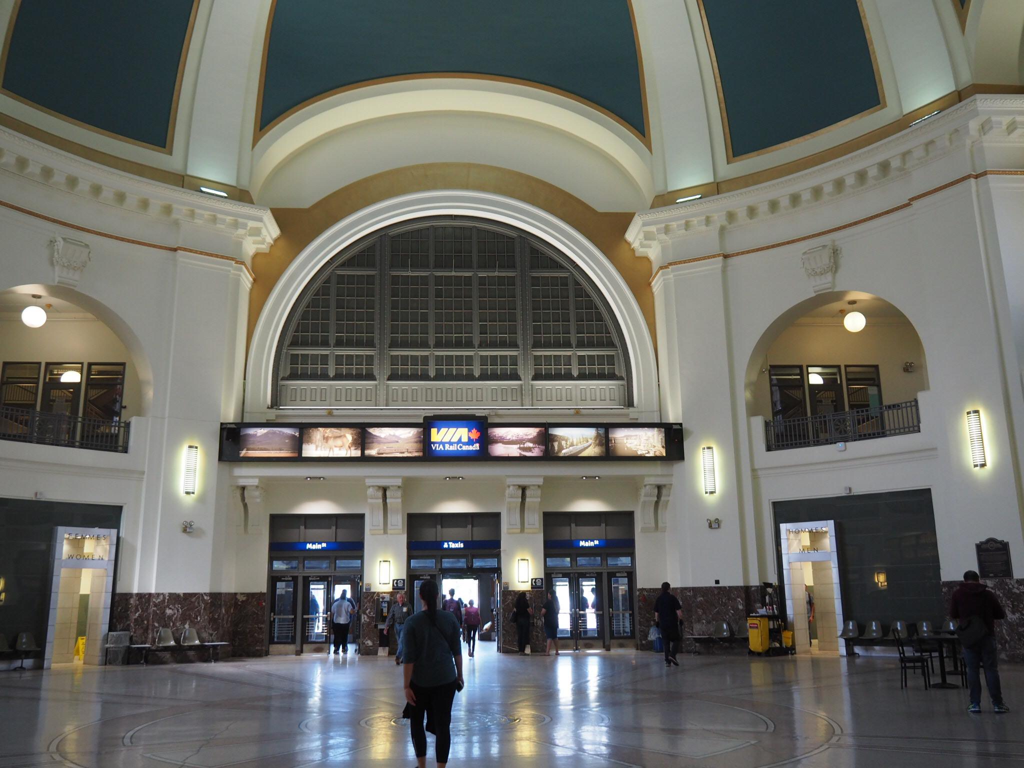 Photo: Marie-Julie Gagnon La gare de Winnipeg