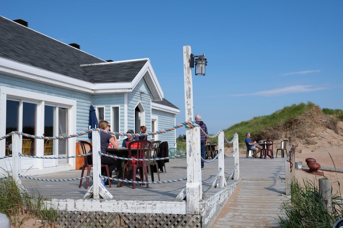 La terrasse sympathique. de L'Échouerie. Photo: Véronique Ledu