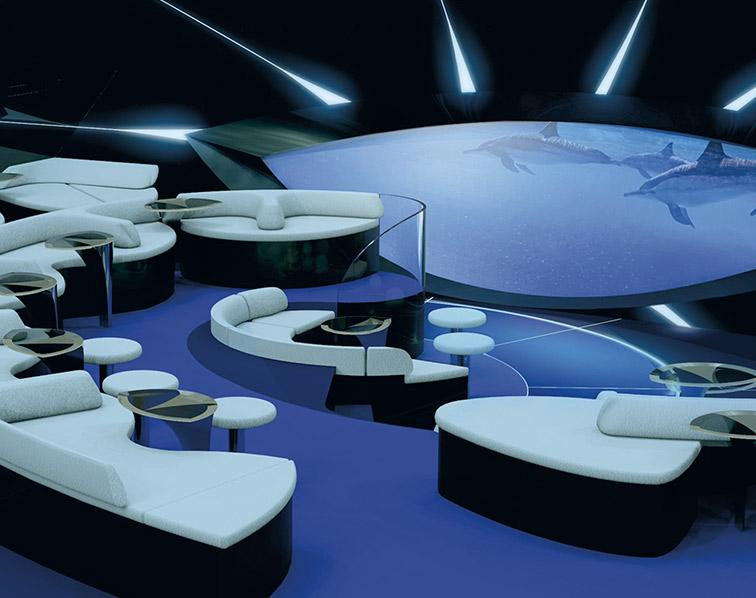 """alt=""""La salle de vision sous-marine d'un navire Ponant. Une expérience immersive. Photo: ponant.com"""