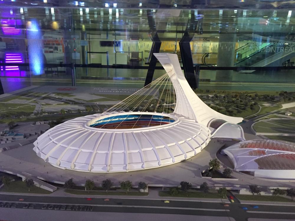 Maquette du stade olympique. Photo: Claude Deschênes