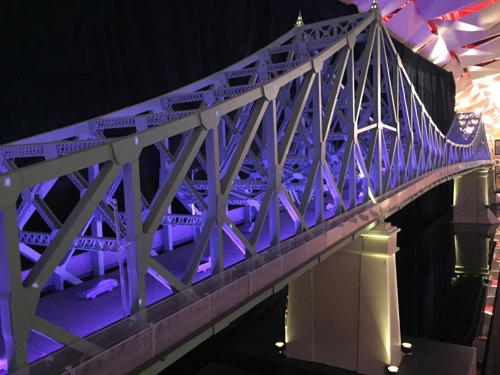 Maquette du pont Jacques-Cartier. Photo: Claude Deschênes