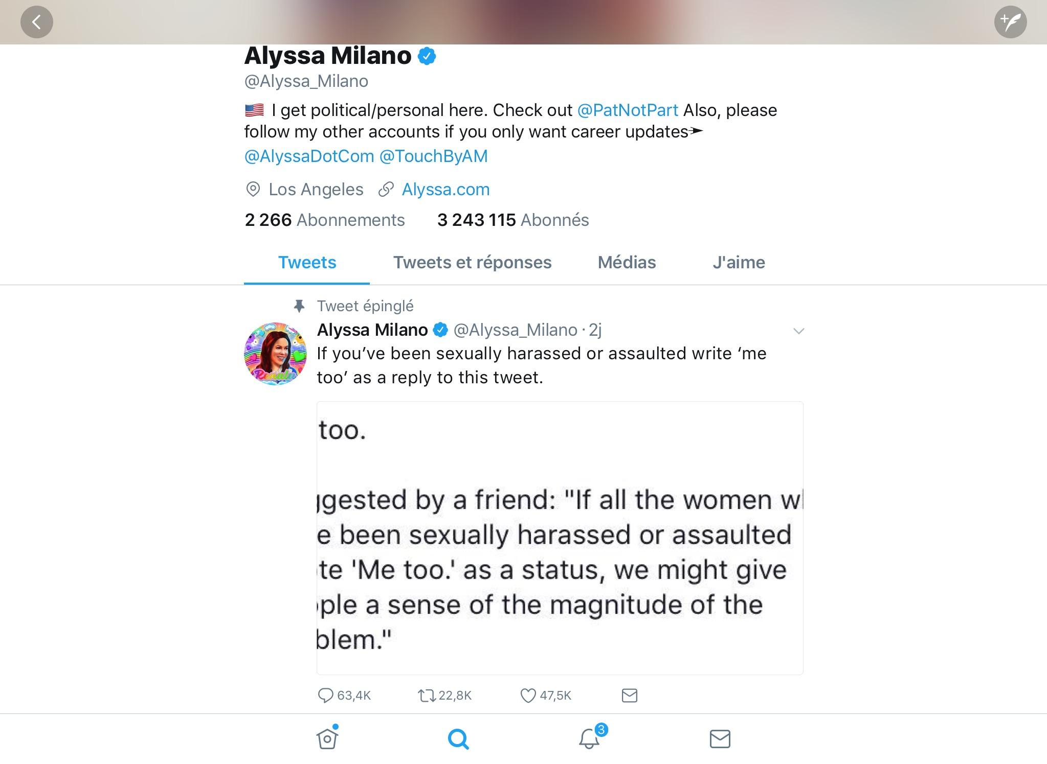 Alyssa Malison a lancé la vague du mot-clic #moiaussi #metoo sur son compte Twitter ce qui a interpellé des milliers de femmes ici et ailleurs.