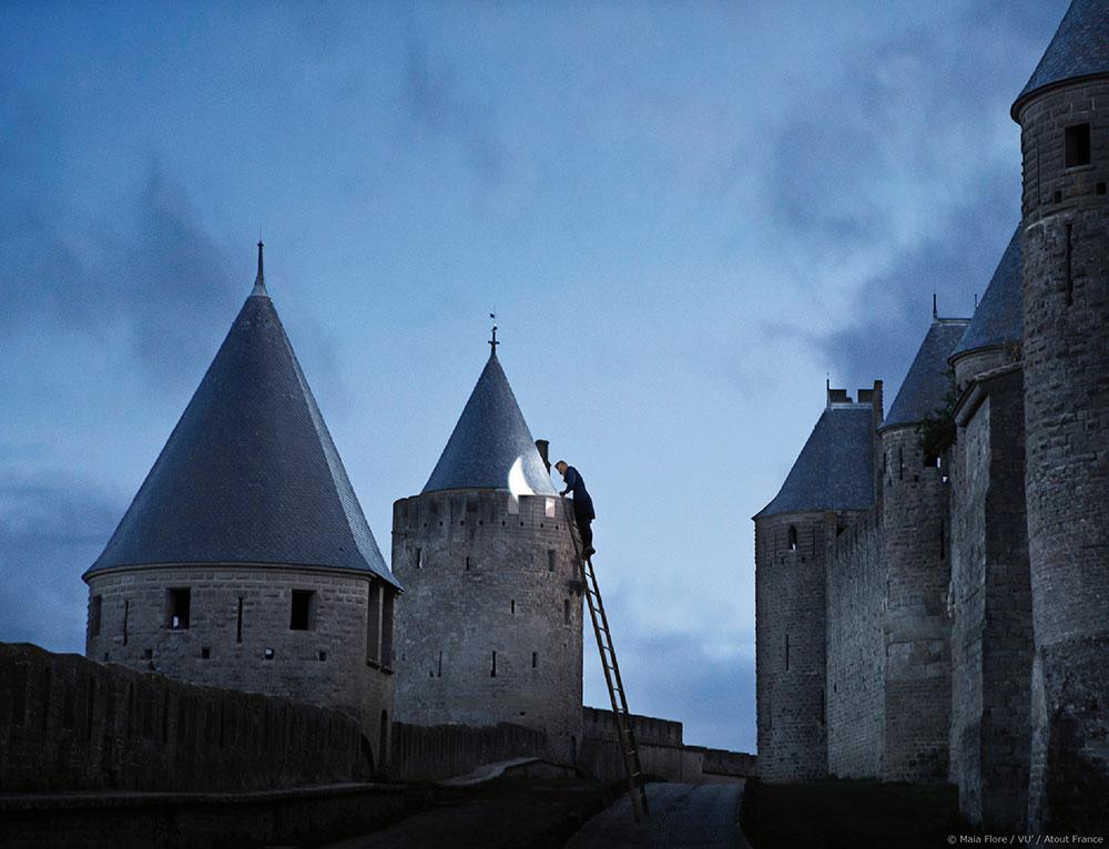 Carcassonne, la Cité. Maia Flore. S