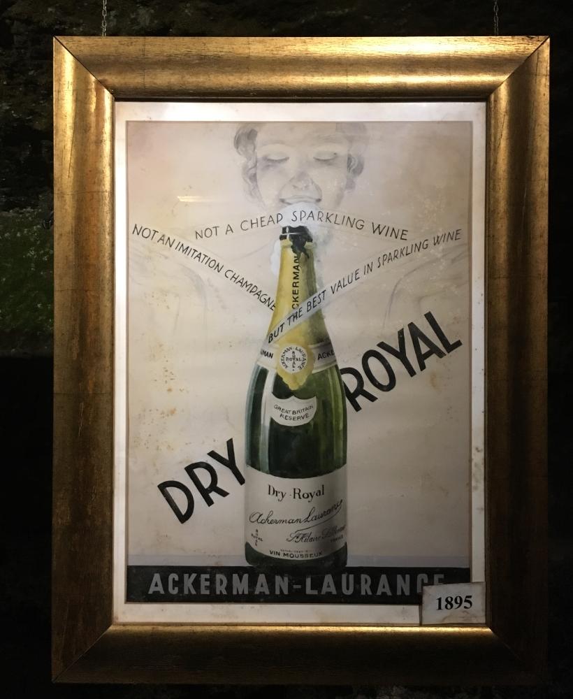 Une des vieilles affiches visant à faire la promotion du vin. Photo: Marie-Julie Gagnon