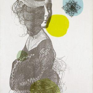 Anne, 2013. Marianne Chevalier. Collage imprimé en sérigraphie sur bois. 50,8 x 76,2 cm. © L'Artothèque