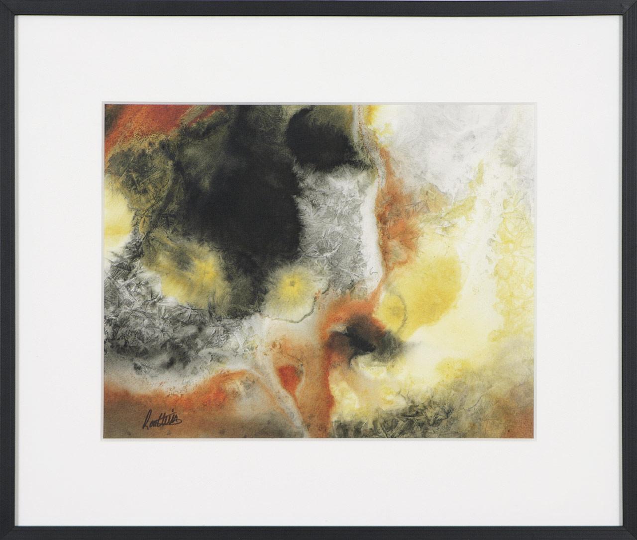 Fracturation 4, 2014. Hélène Routhier. Encre et acrylique sur papier. 44,5 x 52 cm. © L'Artothèque