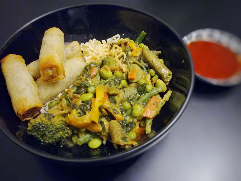 Repas végétalien inspiration asiatique Photo: Facebook Recettes Végétaliennes