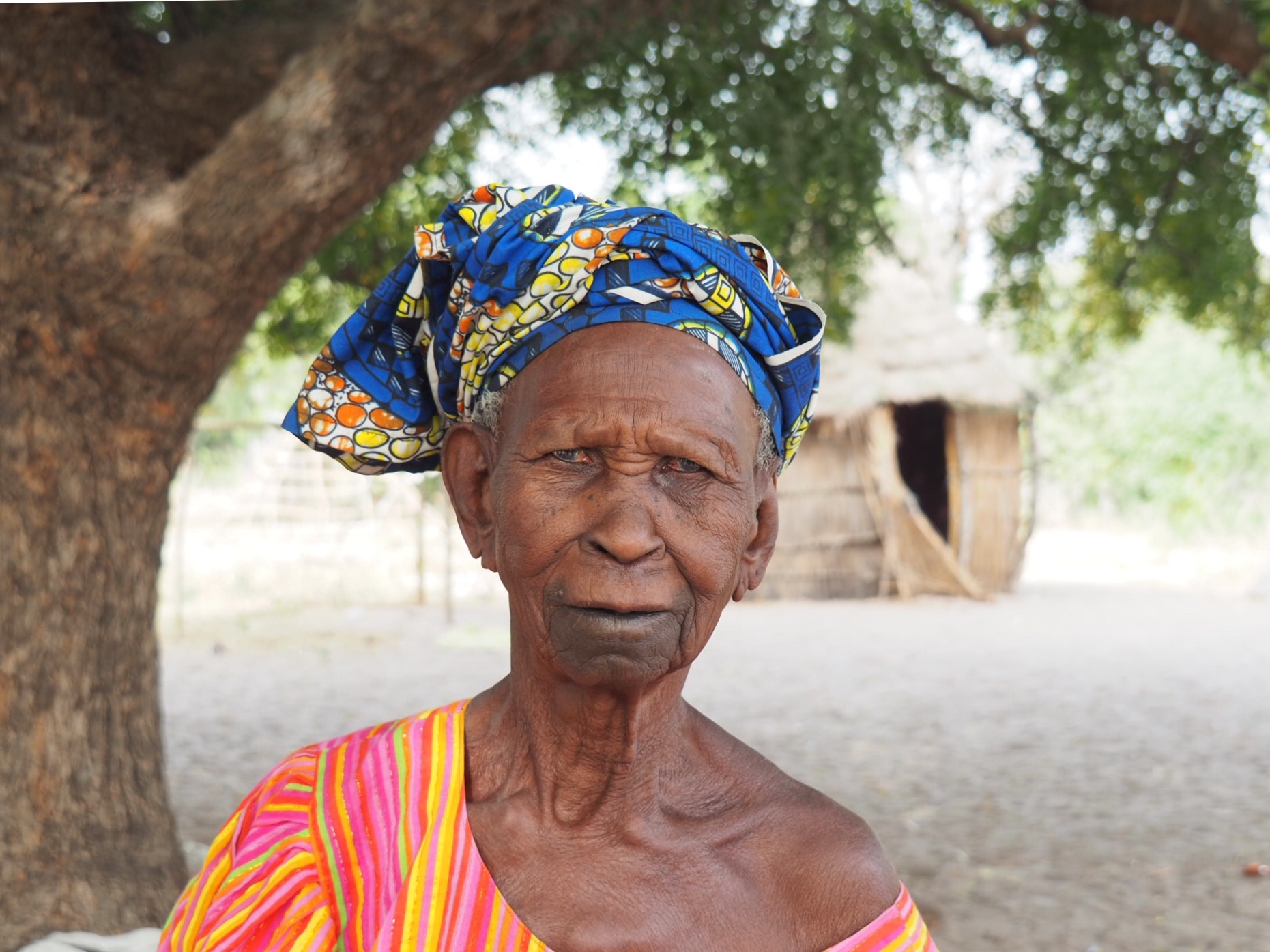 La reine Fatou dans son village. Photo: Marie-Julie Gagnon