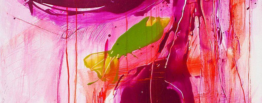 Le poisson vert, 2014. Paule Lévesque. Acrylique sur toile. 122 x 91,5 cm. © L'Artothèque. Tous droits réservés.