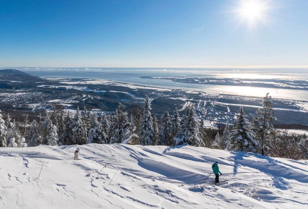 L'hiver au Mont-Sainte-Anne: pour le ski... et la vue! Photo: Facebook Mont-Sainte-Anne
