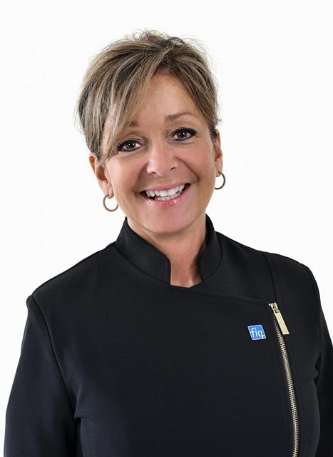 Nancy Bédard, présidente de la FIQ-Santé Photo: FIQ