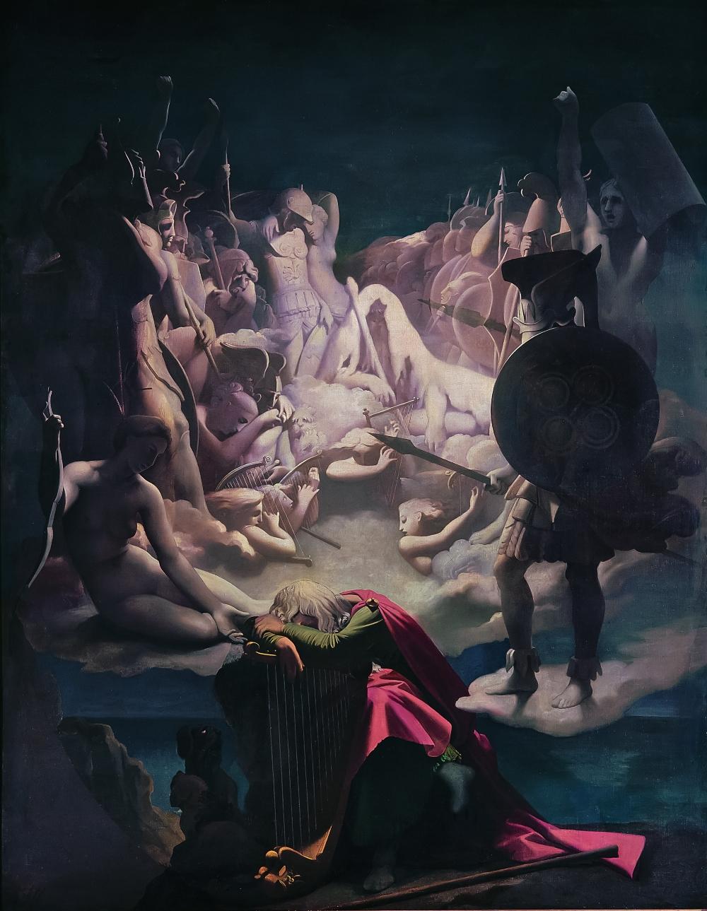 Jean-Auguste-Dominique Ingres (1780-1867), Le Songe d'Ossian, plafond de la chambre de l'Empereur au palais de Monte Cavallo, 1813, huile sur toile. Montauban, musée Ingres. Photo © RMN-Grand Palais / Art Resource, NY / Agence Bulloz.