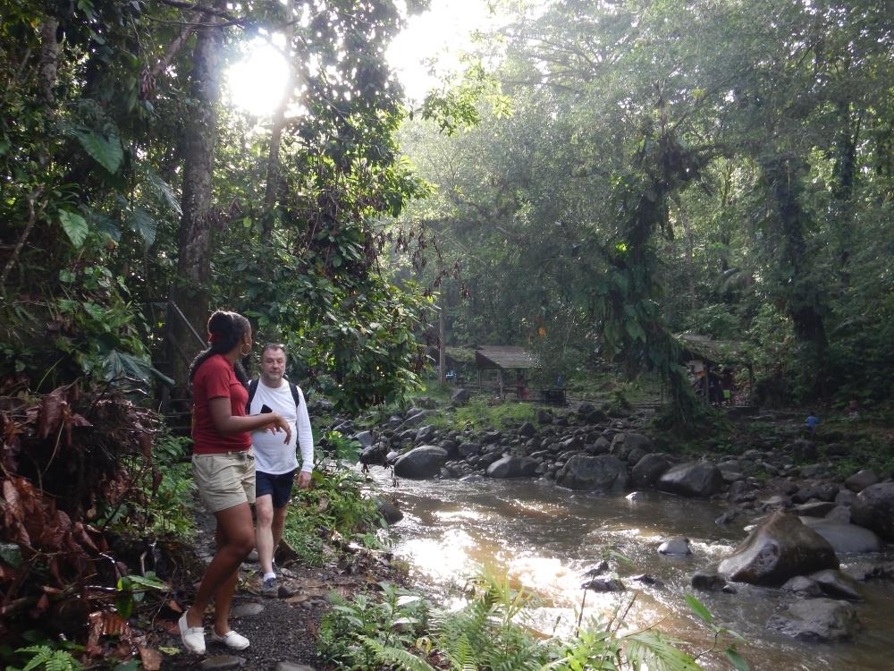 Randonnée dans le Parc national de la Guadeloupe. Photo: Anne Pélouas